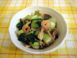 青梗菜(チンゲンサイ)としめじの炒めもの