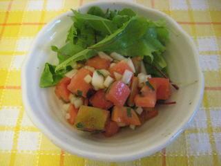 トマトのマリネサラダ【トマトをさっぱり美味しく食べたいね】