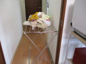 洗濯機から取り出した洗濯物(タオル等)