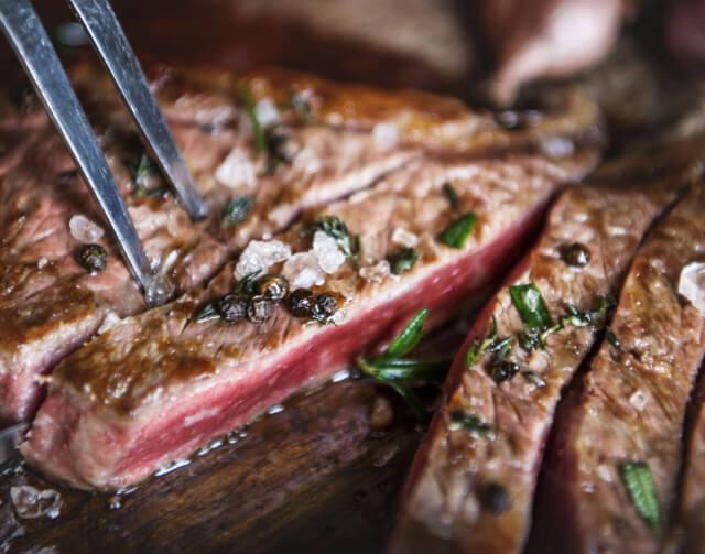 牛ステーキ肉は贅沢品