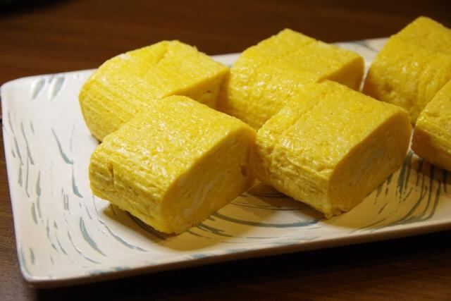 お弁当にも使える卵焼きの写真